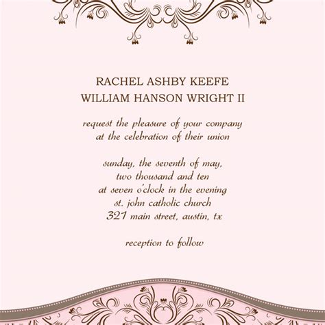 wedding invitation layout template best template collection