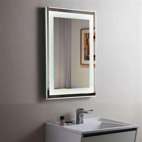 bathroom mirror led decoraport vertical led illuminated lighted bathroom wall