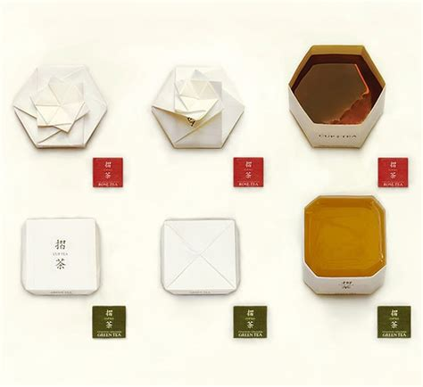 origami tea bag inspiration a tea bag package folds into an origami cup
