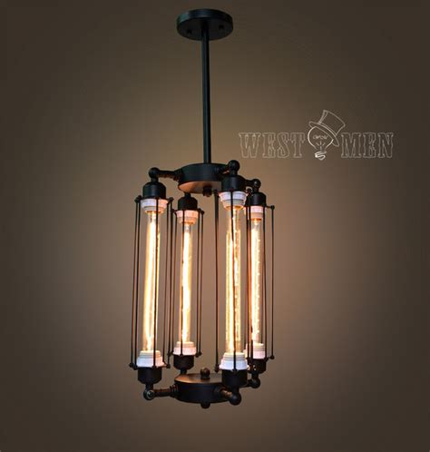 hanging edison bulb chandelier cage edison bulb chandelier 4 lights lobby hanging