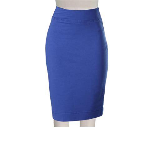 knit pencil skirts plus size royal blue ponte knit pencil skirt elizabeth s