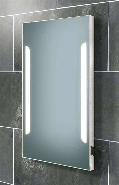 bathroom mirror with shaver point hib zenith back lit steam free mirror with shaver socket