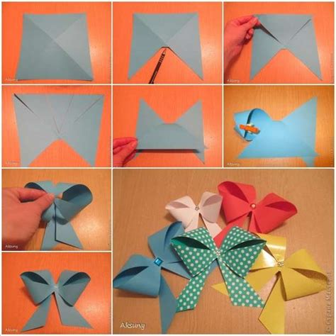 useful paper crafts craft these easy paper bows in just a few minutes