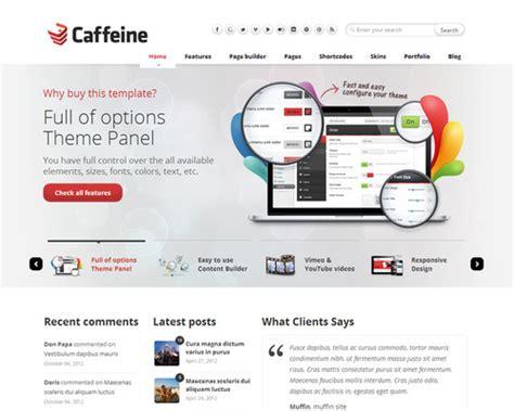 company themes caffeine theme for software company