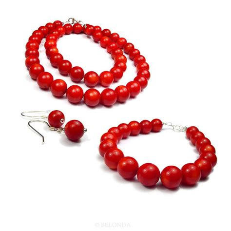 coral for jewelry classic coral jewelry set made of coral at belonda