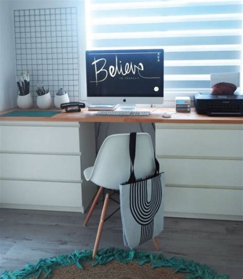 ikea malm desk hack 11 exciting ikea hacks for any home office shelterness