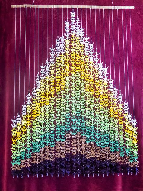 1000 origami paper origami 1000 crane earth senbazuru mixed media by