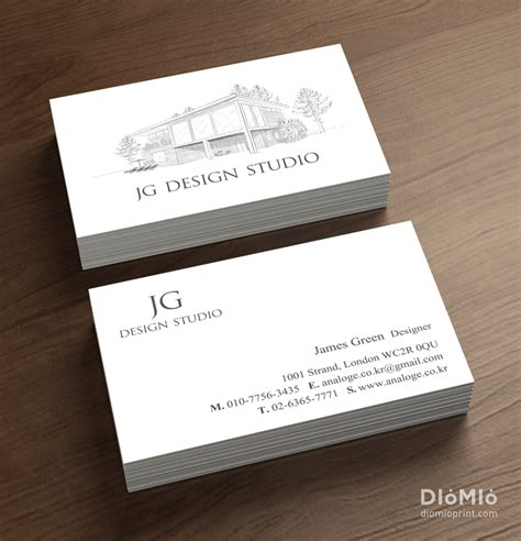 Architectural Business Cards architectural firm diomioprint