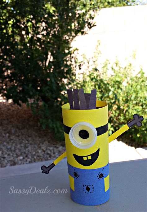 minion toilet paper roll craft minion toilet paper roll craft for despicable me