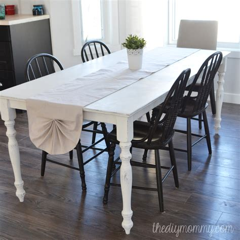 chalk paint shabby chic diy sew a shabby chic pleated table runner from a drop cloth