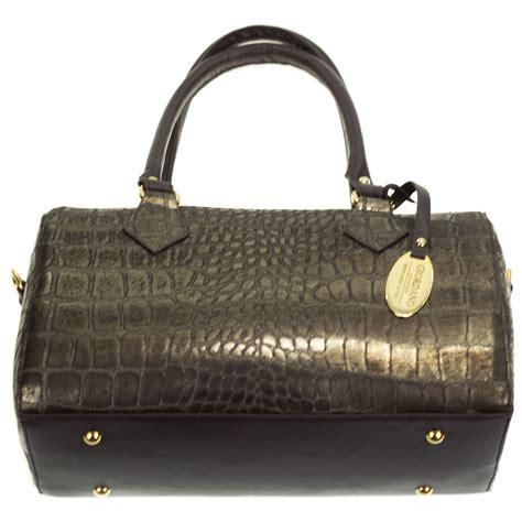 croc embossed leather handbags giordano italian made crocodile embossed bronze leather satchel handbag