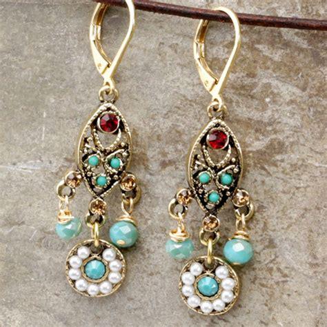 lima bead chandelier earrings lima