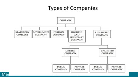types of types of company