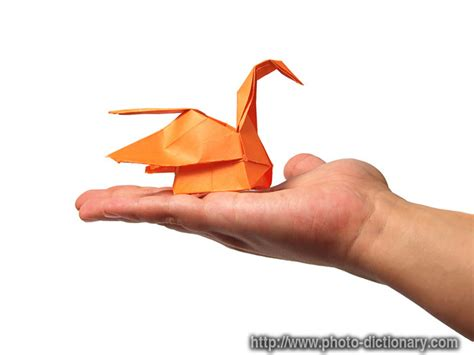 origami define origami swan photo picture definition at photo