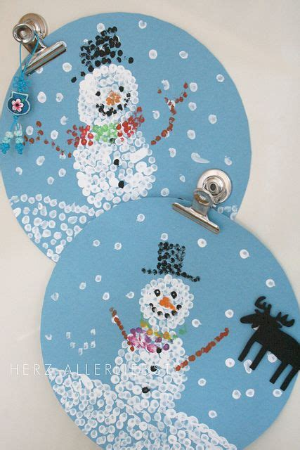 winter crafts for q tip paintings how is that firstgradefaculty