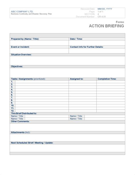 forms templates word business continuity plan template form steamwire com