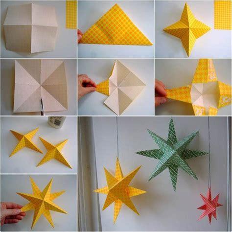 how to make handmade crafts for home decoration estrellas de papel en origami paso a paso