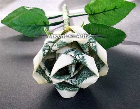 origami money flower with one bill unavailable listing on etsy