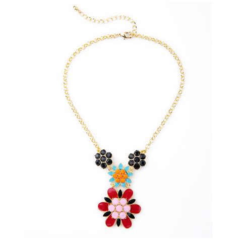 fancy for jewelry ethnic spike flower fancy necklace for gold
