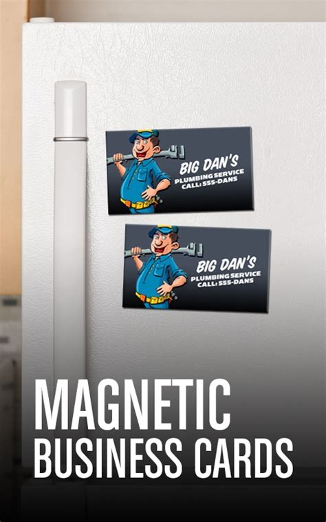 how to make magnetic business cards magnetic business cards