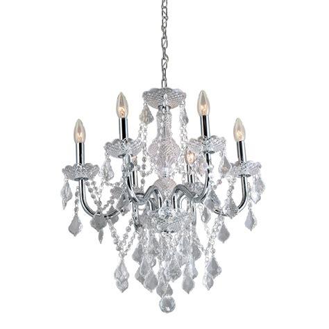 lowes chandelier shop portfolio 20 86 in 6 light polished chrome vintage