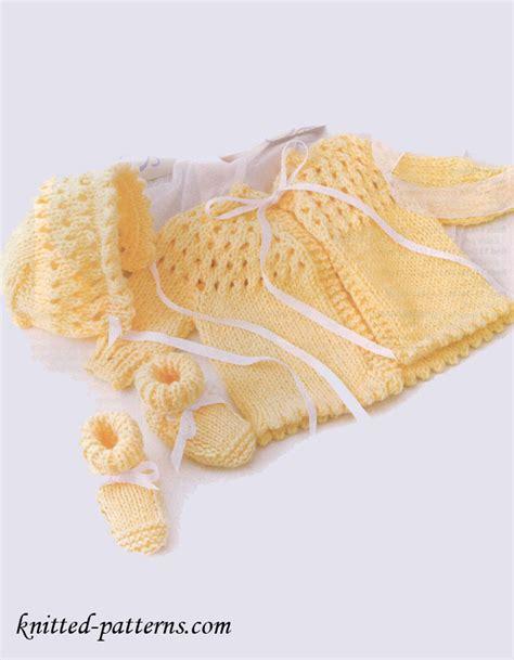 knitting set newborn knit set sweater bonnet booties
