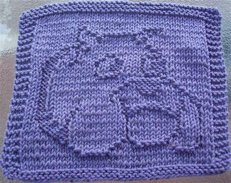 knitted dishcloth patterns digknitty designs bulldog knit dishcloth pattern