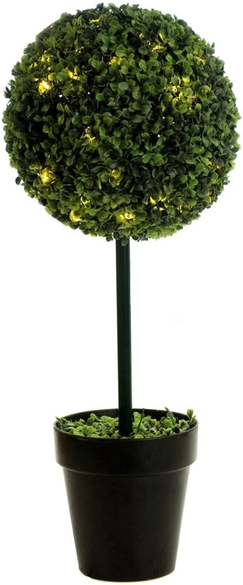 artificial trees with led lights artificial boxwood single topiary tree with led