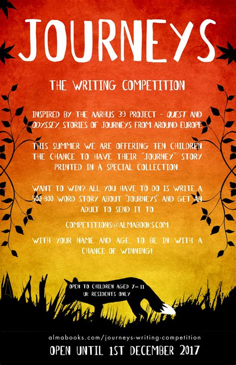 picture books about journeys journeys the writing competition alma books