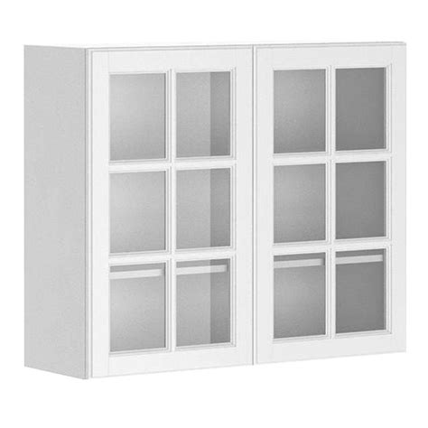 kitchen wall cabinets glass doors fabritec ready to assemble 36x30x12 5 in birmingham wall