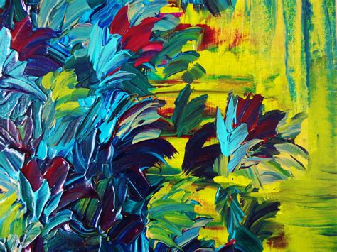 acrylic painting free floral abstract painting free shipping flower acrylic