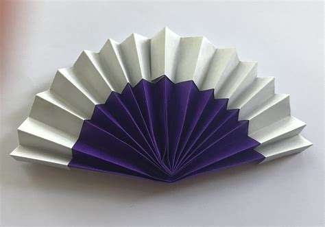 origami fan and tutorials to and try at home from
