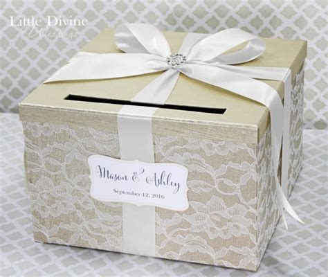 how to make a wedding card holder wedding card box chagne white lace card holder custom