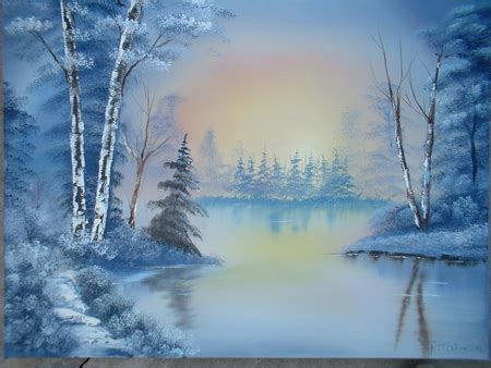 bob ross painting backgrounds bob ross painting lakes nature background wallpapers