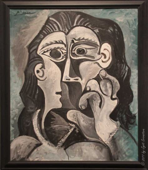 picasso paintings lacma of a jacqueline 1961 62
