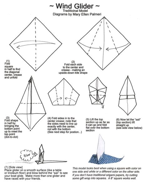 origami glider april 2016 monthly feature origami page wind glider