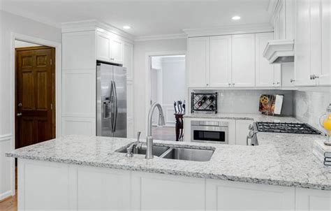 granite countertops for white kitchen cabinets what countertops go with white cabinets peenmedia
