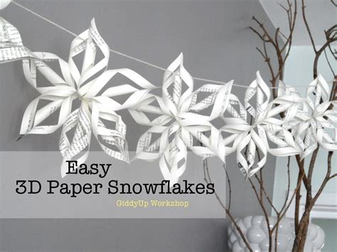 how to make origami snowflake easy 3d origami paper snowflake tutorial