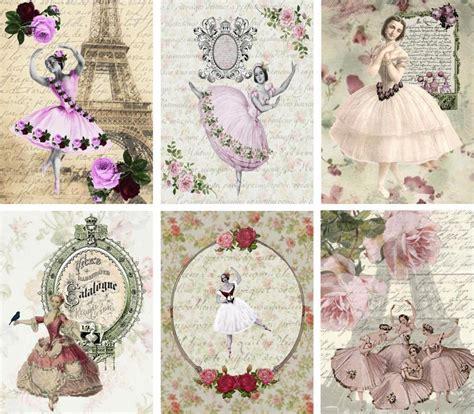 vintage paper crafts 6 ballet ballerina vintage 155 lb laminate paper
