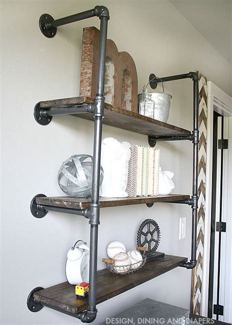galvanized pipe bookshelves 25 best ideas about industrial shelving on