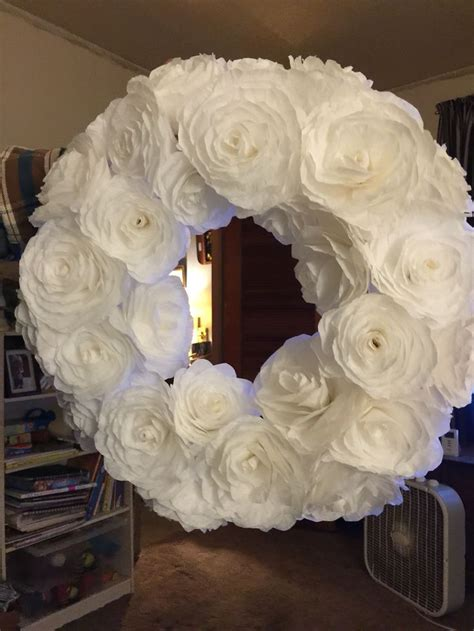 coffee filter crafts for white coffee filter flower wreath arts and crafts ideas