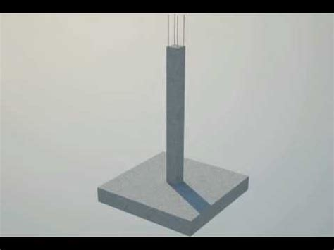pedestal hindi meaning 3d animation of a reinforced foundation and column youtube