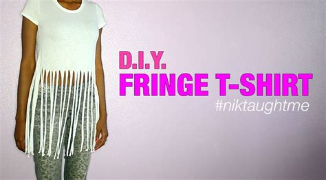 how to make a fringed shirt with how to make a fringe t shirt nik