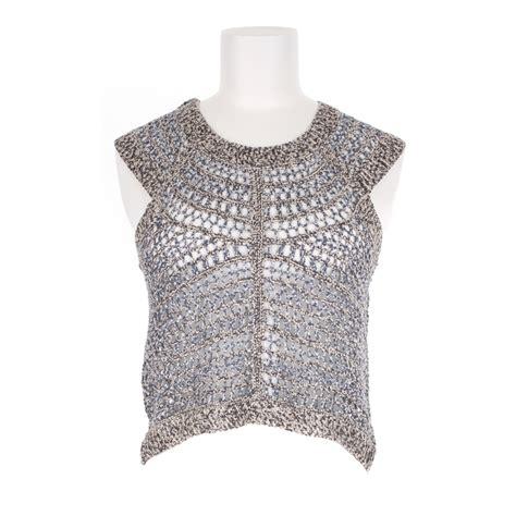 sleeveless knit top theyskens theory silk crochet knit sleeveless top in gray