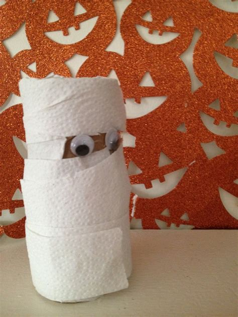 mummy toilet paper roll craft crafts for repurposed toilet paper roll mummy