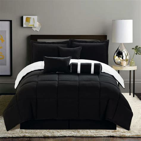 black and white comforter sets king 7 pc new black white soft reversible comforter set king