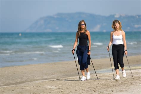 walking on the swimming and nordic walking in riccione hotel gemma 3