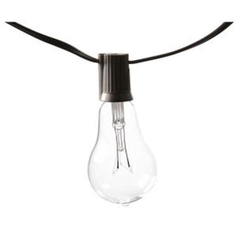 outdoor string lights home depot edison 10 light outdoor decorative clear bulb string light