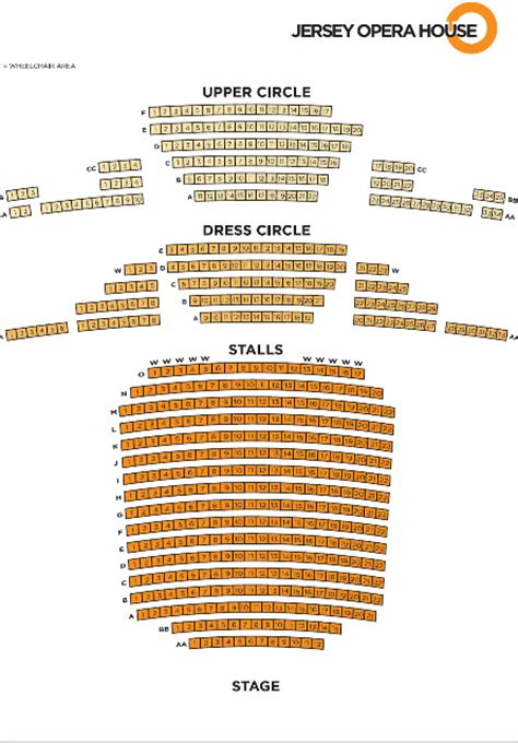 opera house theatre blackpool seating plan jersey opera house