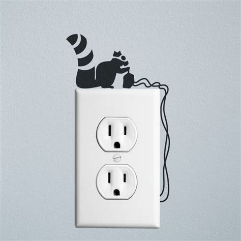 wall stickers outlet squirrel robber wall decal sticker for wall switches and